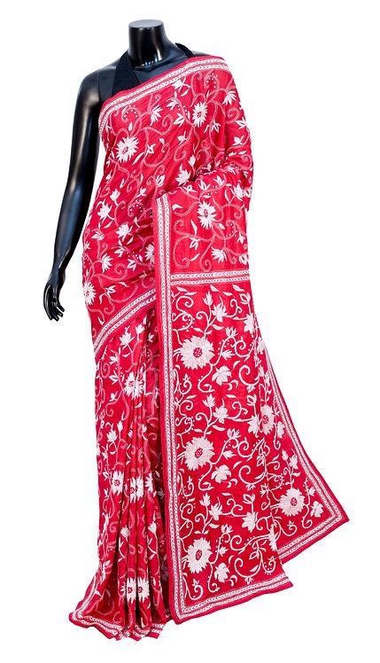 Kantha Saree: Floral Jaal /MKC-101