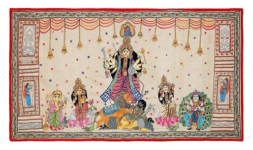 Kantha StitchArt: Durga Mandap/029