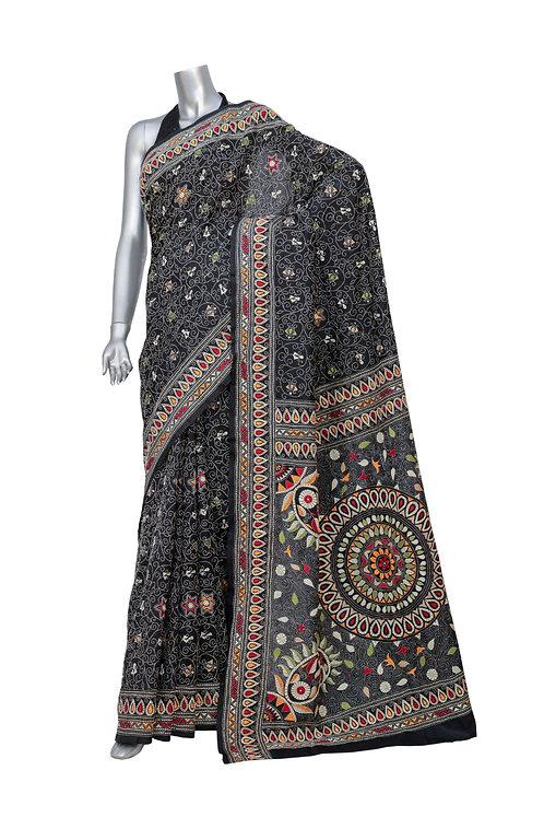 Kantha Silk Saree: 013