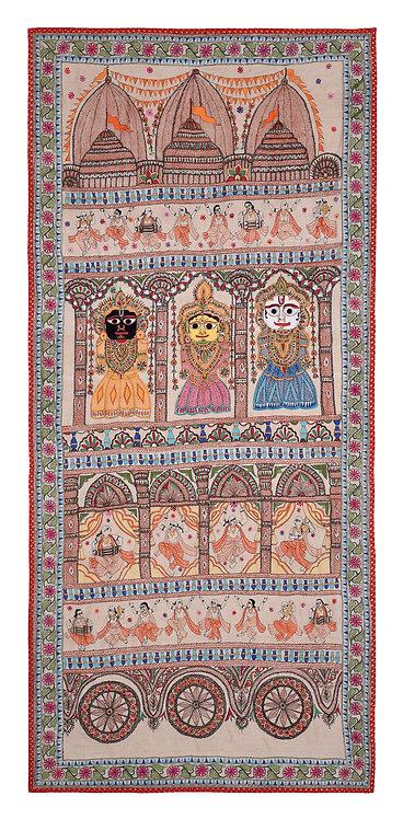 Kantha StitchArt: Jagannathji/015