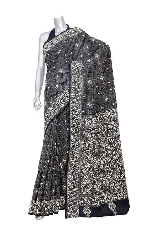 Kantha Silk Saree: 084