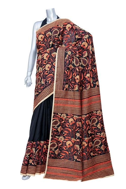 Kantha Silk Saree: 093