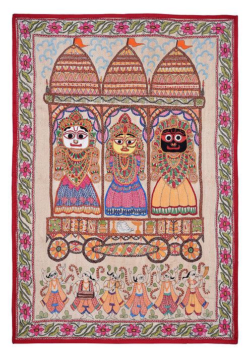 Kantha StitchArt: Lord Jagannath/020