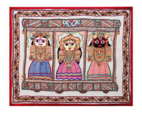 Kantha StitchArt:  Lord Jagannath/063