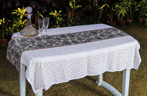 Kantha Tussar Table Runner: 006