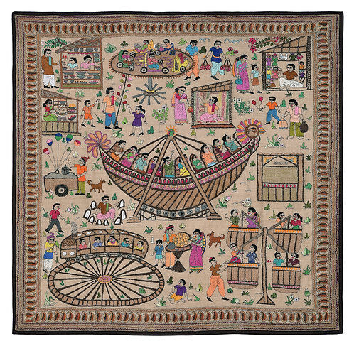 Kantha StitchArt: Village Fair