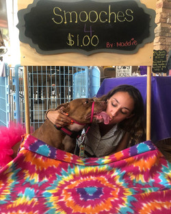 Cassie and Maddie at Yappy Hour 2018