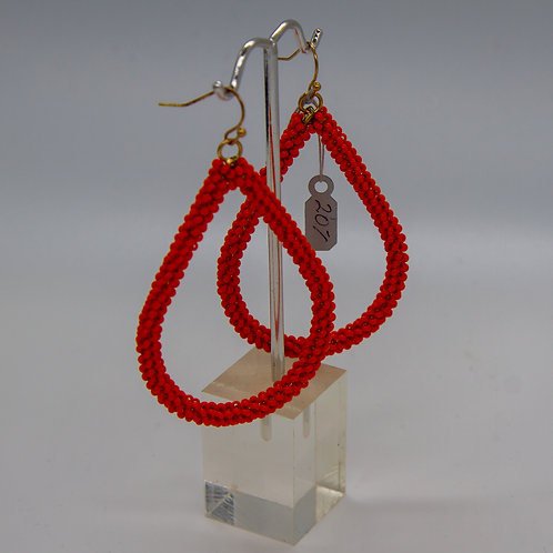 "Earrings- ""Orange Teardrop"""