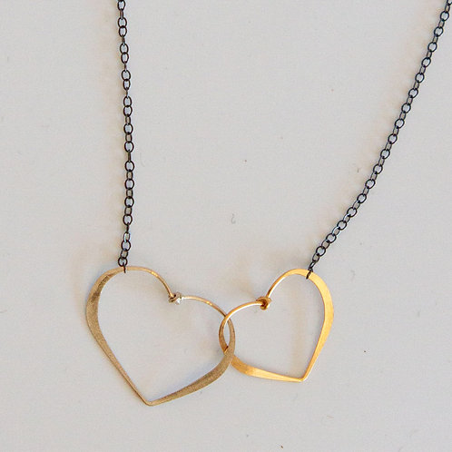 2 hearts necklace