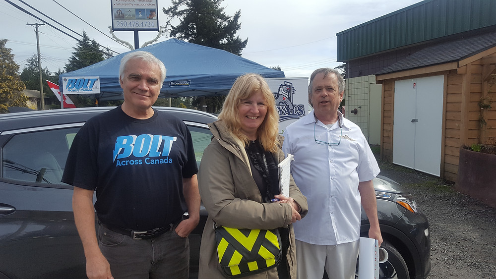 Buddy and Barb with Dave  at VEVC meeting at bakery