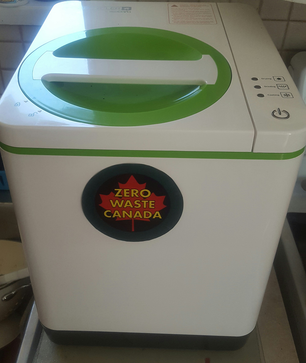 the Food Cycler we use . We added the sticker on front
