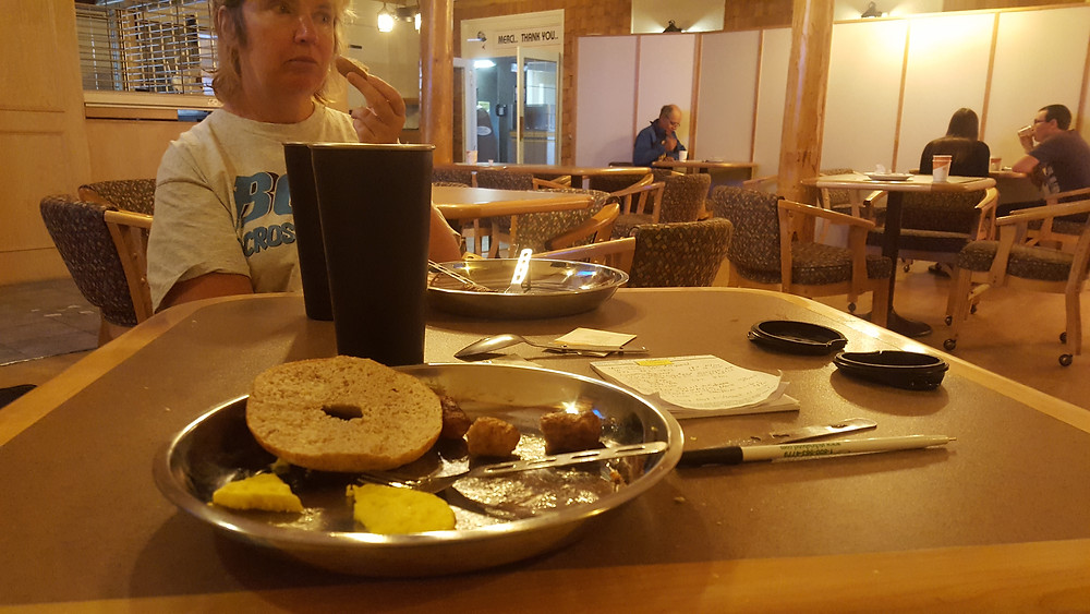 Bolt Across Canada Zero waste breakfast