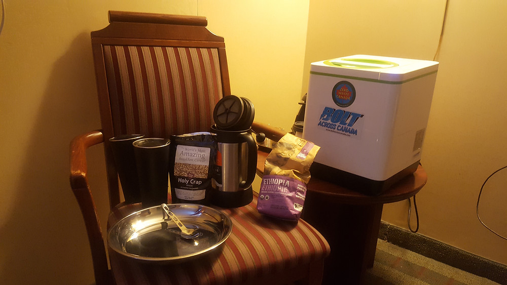 Food Cycler in hotel room