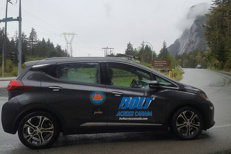Bolt Across Canada on the way to Squamish