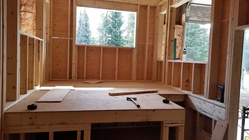 living room area in Zero Waste Tiny Home