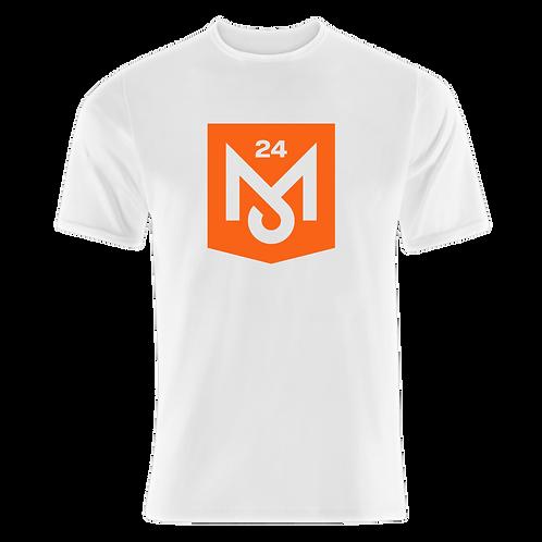 White T-Shirt (Orange Logo)