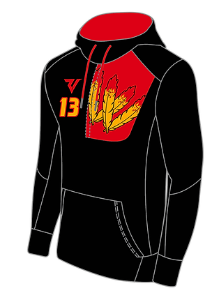 Custom Warriors Black Half Zip Hoodie