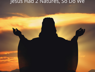 Jesus Had 2 Natures, So Do We