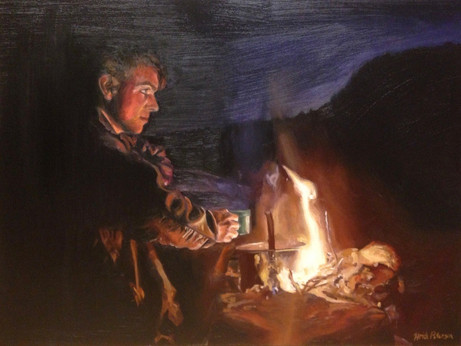 Reflection by Firelight