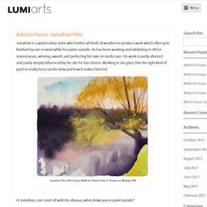 Lumi Arts Artist in Focus