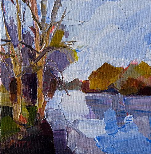 Autumn Walk One - An acrylic on canvas impasto painting.
