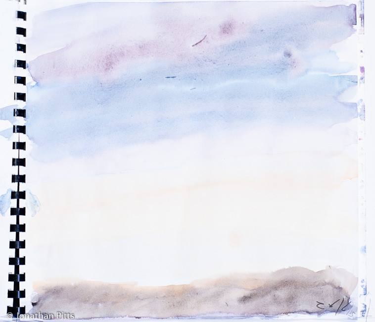 Jonathan Pitts sketch, sky study