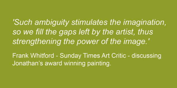 Frank Whitford, art historian, discussing in the Sunday Times Culture magazine 28.08.11 the prize winning painting of Sunday Times Watercolour Competition winner Jonathan Pitts.