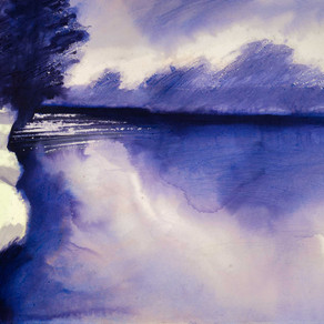 Mixed media watercolour paintings from my river Thames series.