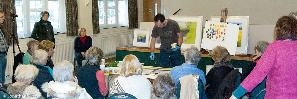 North Cotswold Arts Association artist demonstration with Jonathan Pitts.
