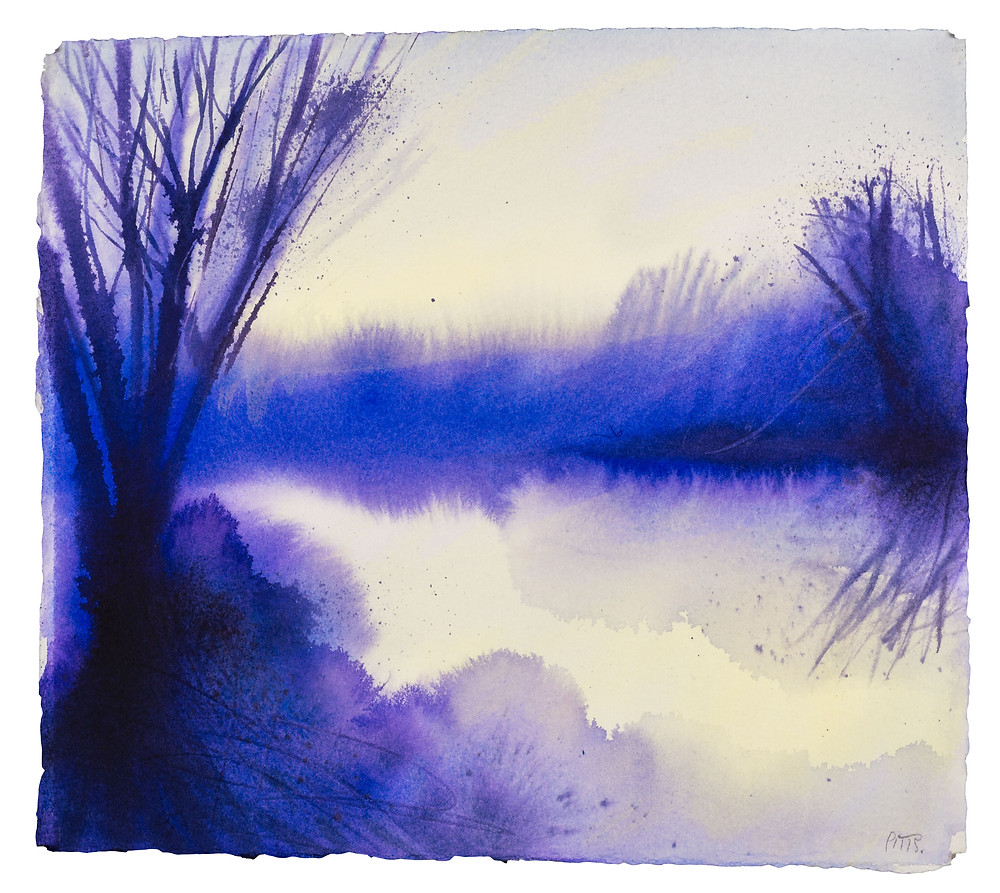 Thames Reflections no.5 Watercolour by Jonathan Pitts