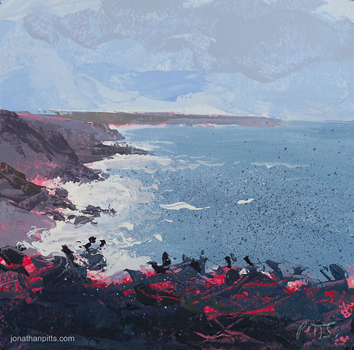 Lands End, an original painting of cornwall.