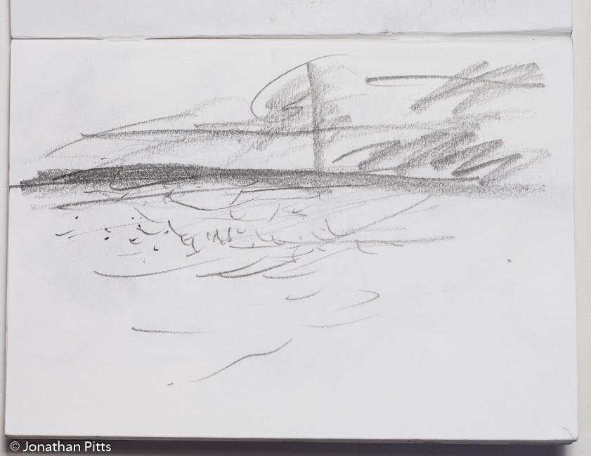 Jonathan Pitts Sketch of the River Thames near Marlow