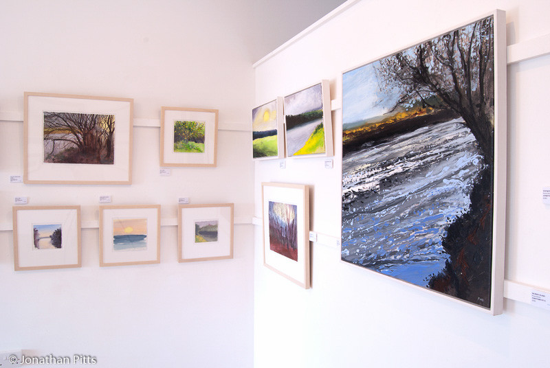 Mixed media paintings by Jonathan Pitts at Pure Art gallery in Milford haven Pembrokeshire