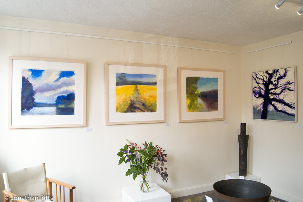 Mixed media paintings by Jonathan Pitts available at The Stour gallery in the Cotswolds
