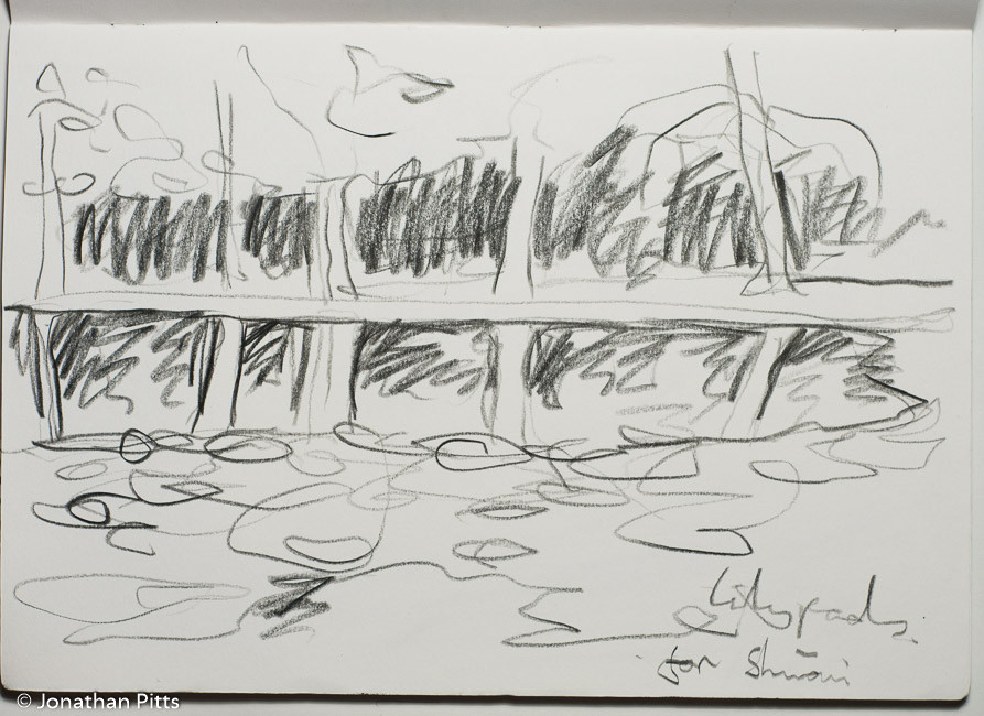 Jonathan Pitts Sketch of the River Thames near Hurley