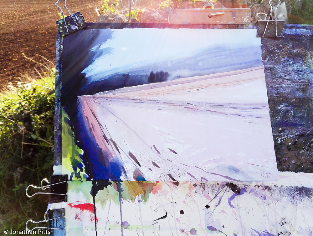 Plein air watercolour, Jonathan Pitts Sunday Times Watercolour 2nd prize winner.