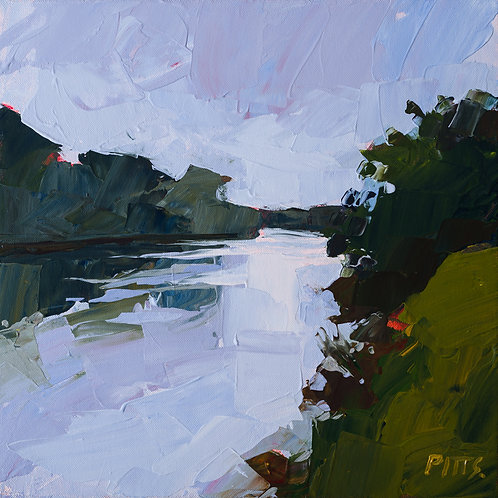 Late summer at Aston - An acrylic on canvas original painting for sale.
