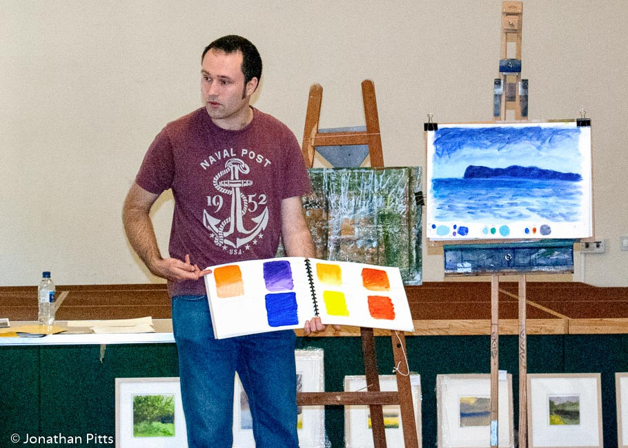 North Cotswold Arts Association artist colour workshop with Jonathan Pitts.