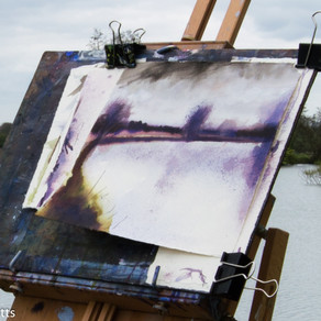 Out Painting on the River Thames