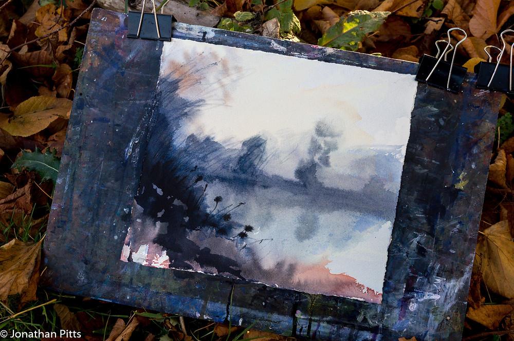 watercolour drying Jonathan Pitts