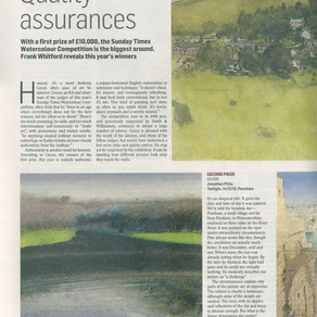 Press Articles for the Sunday Times Watercolour Competition 2011