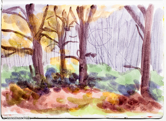 Jonathan Pitts Sketch of Windsor Great Park