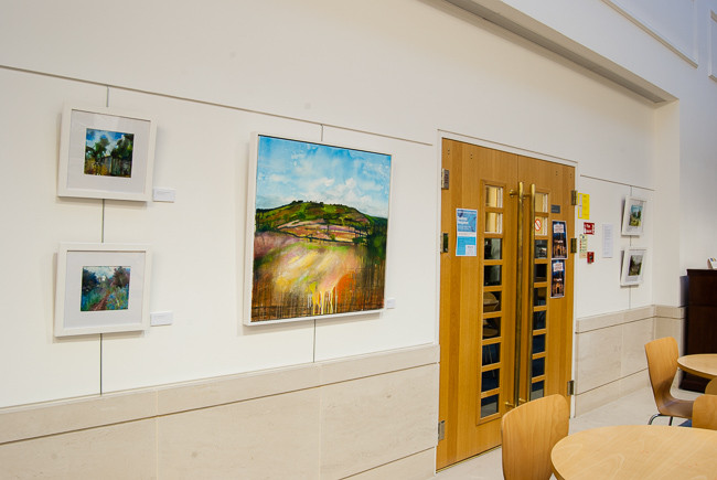 In and Around the Town, an exhibition of mixed media plein air paintings by Jonathan Pitts on display at Oxford University Press in Jericho