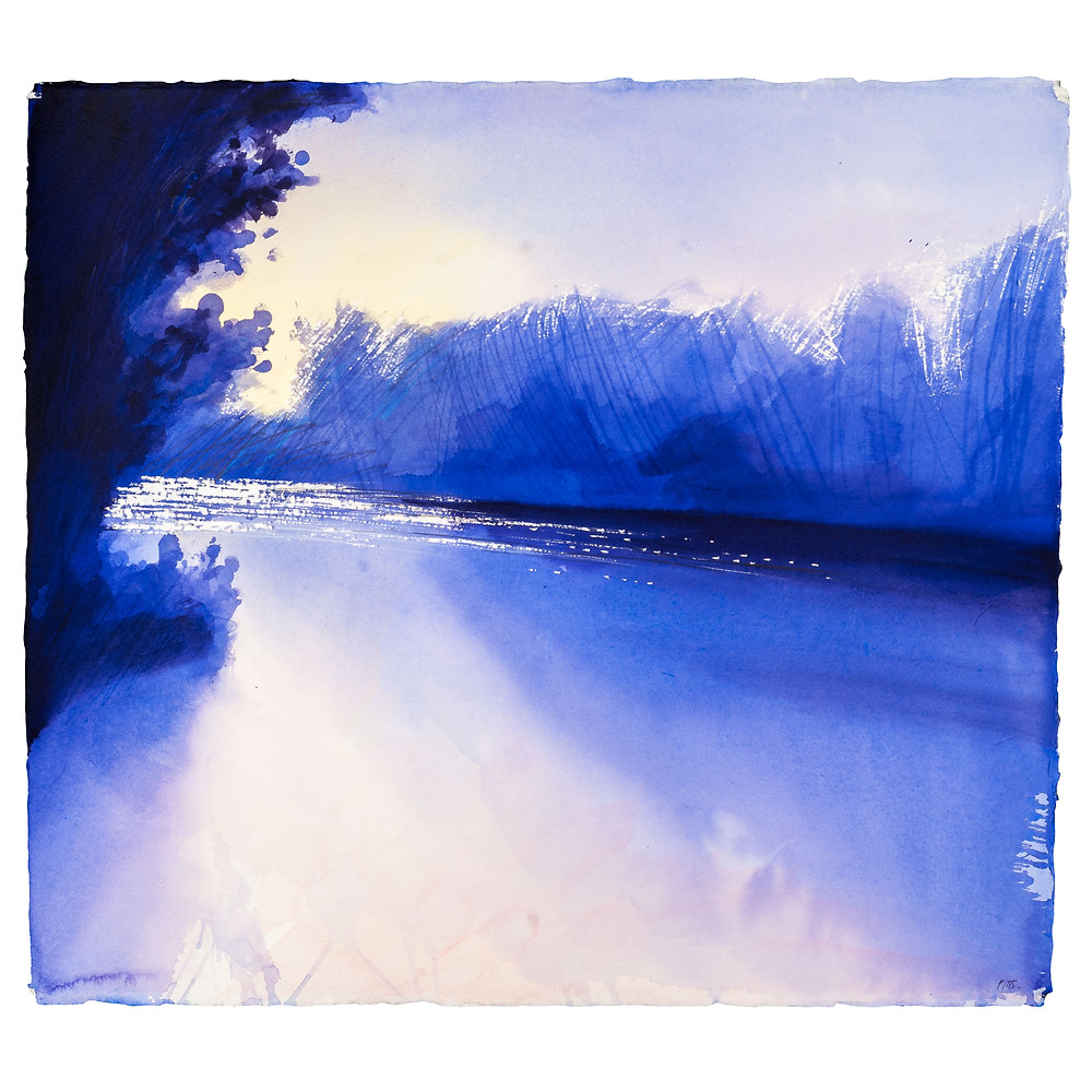 River Thames near Marlow, Watercolour Painting by Jonathan Pitts