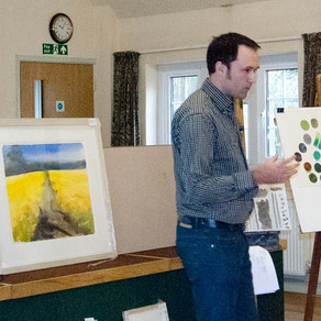 Artist Demonstration at the North Cotswold Arts Association 13.03.2013
