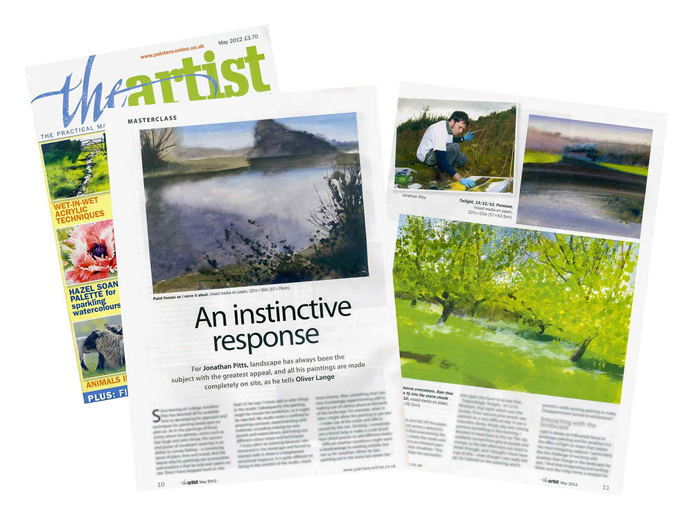 An Instinctive Response, Jonathan Pitts. A Masterclass artcile from the May 2012 edition of the Artist Magazine, article by Oliver Lange.