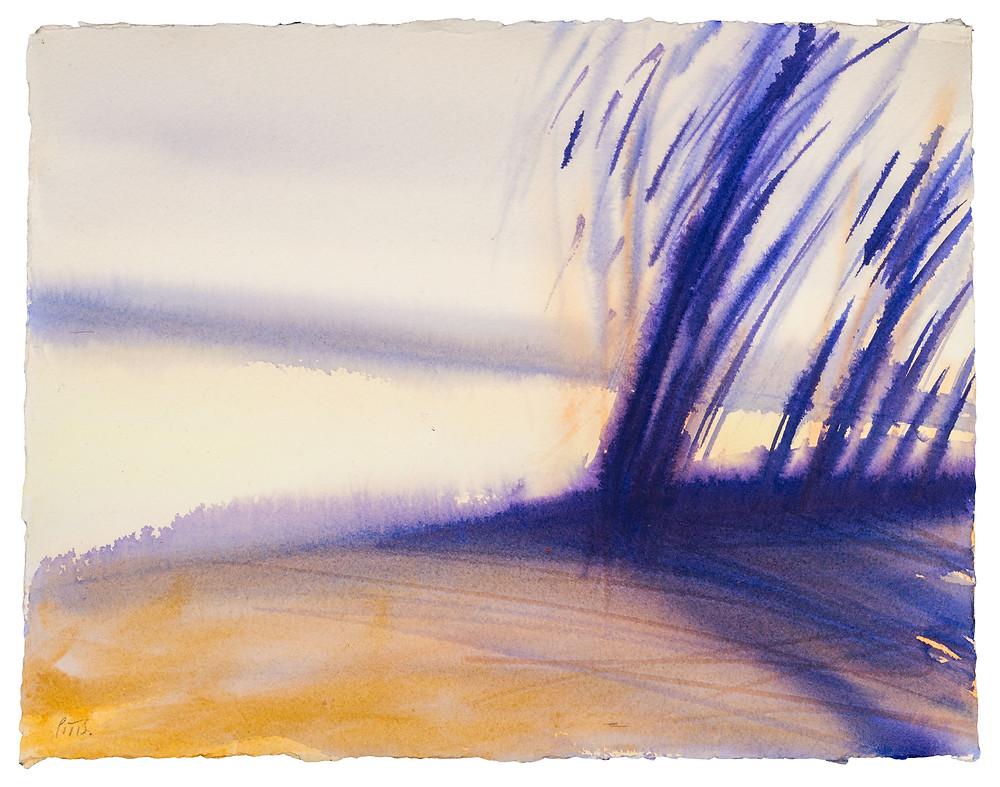 Thames Morning no.1 Watercolour by Jonathan Pitts