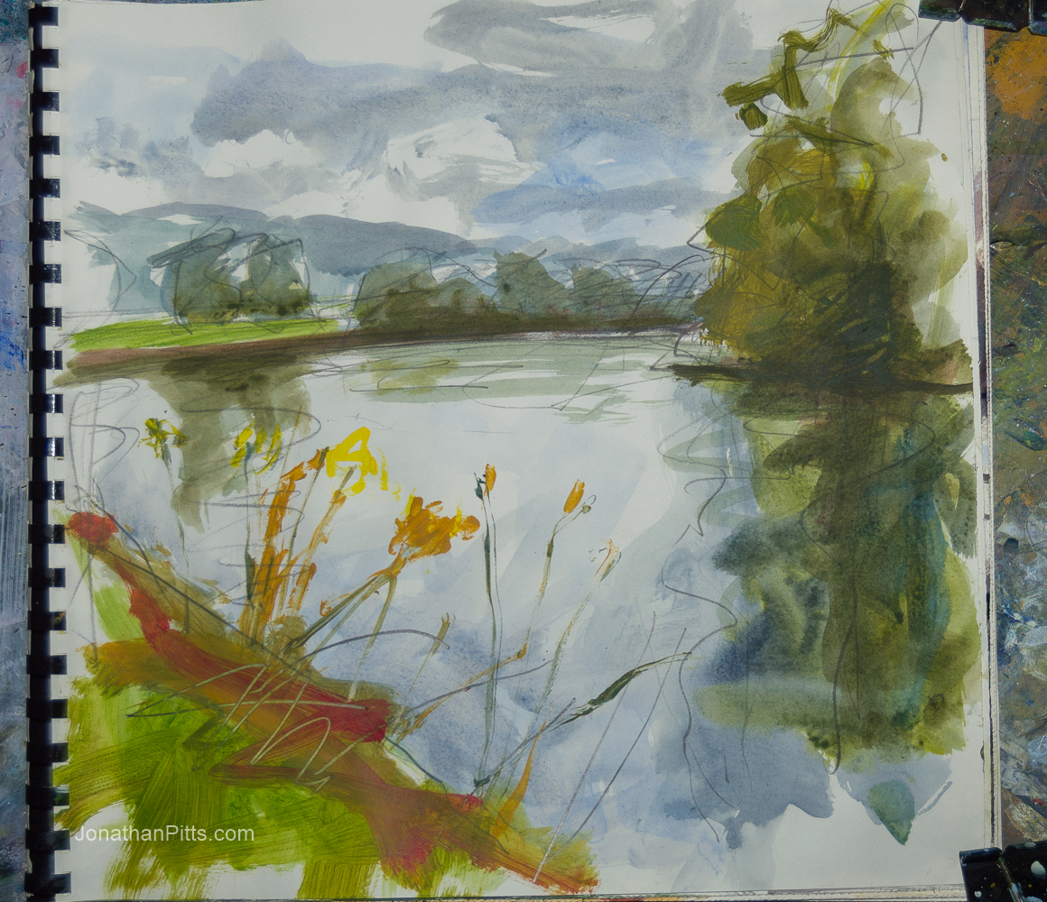 sketchbook painting ideas in acrylic, Jonathan Pitts