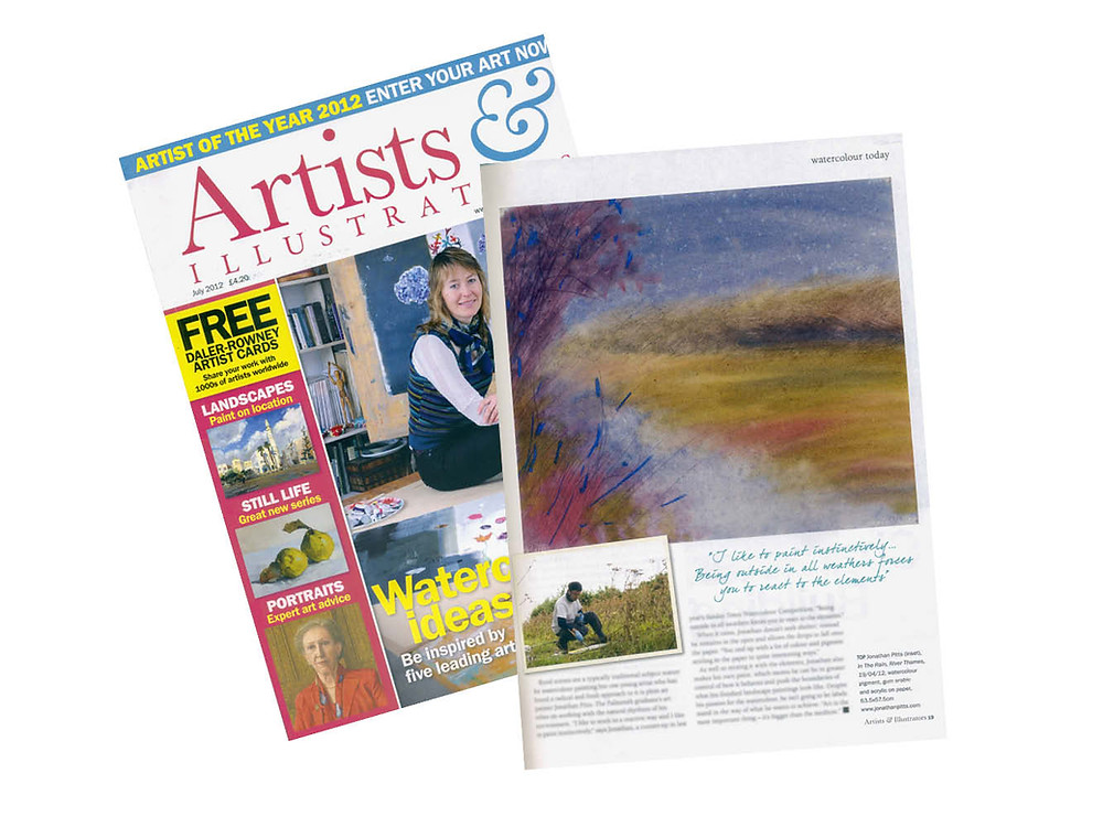 Watercolour Today, by Martha Alexander , appeared in Artists & Illustrators July 2012. Jonathan Pitts.
