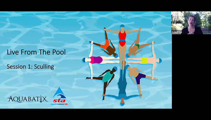 Live from the pool series - how to teach sculling